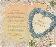 Andachtsbild Mehrseitig Um 1900, Prägearbeit, Andenken An Maria Enzersdorf, Gebrauchsspuren - Andachtsbilder