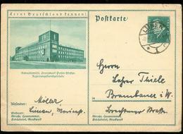 S7495 - DR GS Postkarte Mit Bild Schneidemühl Posen: Gebraucht Lünen - Brambauer 1932 , Bedarfserhaltung. - Deutschland