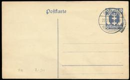 S7492 - DR Danzig GS Postkarte : Gebraucht Stempel Festung Danzig Weichselmünde 1921 - Danzig
