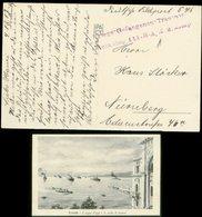 S7491 - DR Feldpost Postkarte Schiffe Trieste : Gebraucht Kriegsgefangenen Transport Battaillon 111 Galizien - Nürnberg - Deutschland