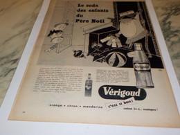 ANCIENNE PUBLICITE LE PERE NOEL ET SODA VERIGOUD 1955 - Affiches