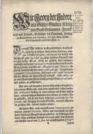 Edict, Tabacs- Und Pfeiffen Importes  Sir GEORG DER ANDERE  König Von GroB Brittannien , Frankreich Und Ierland   1750 - Gesetze & Erlasse