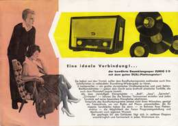Alte EUMIG WERBUNG - Eumig Phono 3 D - Raumklang-Super Mit Eingebautem Plattenspieler - Werbung