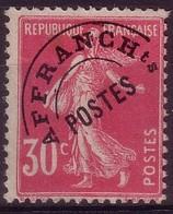 Préo 59 - 30c Rose Semeuse - Sans Gomme - 1893-1947