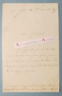 L.A.S 1857 N. SANTELLI Médecin Militaire > Général RENAULT Grand Croix Ordre Impérial Légion D'Honneur - Lettre PASSY - Autographes