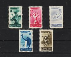 1945 - Organisation Du Sport Populaire Mi No 874/878   MNH - 1918-1948 Ferdinand, Carol II. & Mihai I.