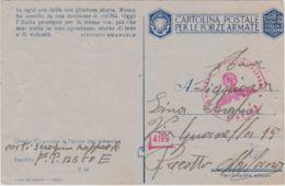 1943 CARTOLINA FRANCHIGIA In Ogni Ora .. Stampa A Cura 11 Armata Viaggiata Fori Spillo - 1900-44 Vittorio Emanuele III