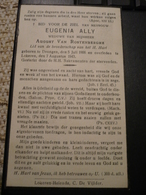 Drongen Lokeren Eugenia Ally 1866 1943 - Devotieprenten