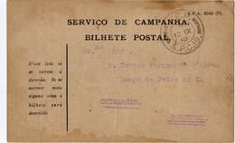 Portugal 12-IX-1918 - Bilhete Postal Serviço De Campanha - CEP - Corpo Expedicionário Português SCP19 - Briefe U. Dokumente