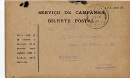 Portugal 21-IX-1918 - Bilhete Postal Serviço De Campanha - C.E.P - Corpo Expedicionário Português SCP19 - Briefe U. Dokumente