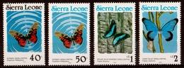 """1990  Série De 4 Timbres """"papillons"""" Neufs** - Sierra Leone (1961-...)"""
