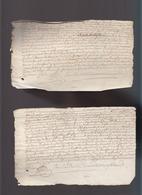 Fiscal 8 Deniers - Avril 1740 - Controlé Scellage - Jacques Beaudoire, Laboureur à Courtjours - 2 Documents - Cachets Généralité