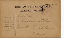 Portugal 28-IX-1918 - Bilhete Postal Serviço De Campanha - C.E.P - Corpo Expedicionário Português - Briefe U. Dokumente