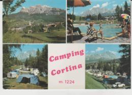 Postcard - Camping Cortina Four Views, Italy - Unused Very Good - Cartes Postales