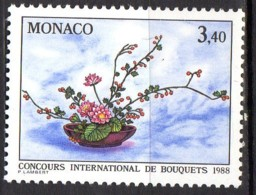 MONACO YT N° 1598 Neuf Concours International De Bouquets 1988 Lot 501 - Nuovi
