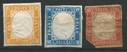 ITALIE SARDAINE 1855  - N° 10 / 12 / 13 -  Voir Scan - Sardaigne