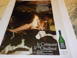 ANCIENNE PUBLICITE CREMANT VEUVE OUDINOT 1968 - Alcools
