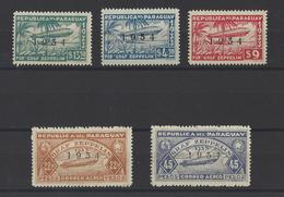 PARAGUAY. YT PA  N° 67A/67E  Neuf *   1934 - Paraguay