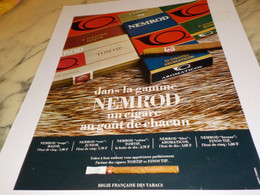 ANCIENNE PUBLICITE DANS LA GAMME CIGARE NEMROD 1968 - Tabac (objets Liés)