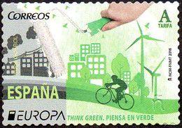CEPT / Europa 2016 Espagne N° 4772 ** Think Green - Ecologie, Vélo - Europa-CEPT