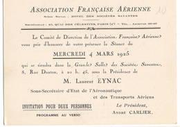 """AVIATION: Asociation Française Aérienne-j  Mars 1925 . Thème  """"evolution Du Moteur à Combustion Interne."""" - Vieux Papiers"""
