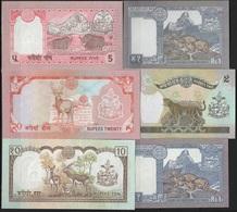 B 85 - NEPAL Lot De 6 Billets états Neufs - Népal