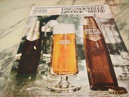 ANCIENNE PUBLICITE BIERE VEGA 2000  1968 - Alcools