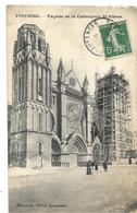 86 POITIERS LA CATHEDRALE ECHAFFAUDAGE SUR UN COTE 1909 CPA 2 SCANS - Poitiers