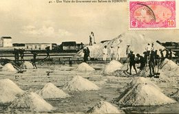 DJIBOUTI(SALINES) SEL(VISITE DU GOUVERNEUR) - Gibuti
