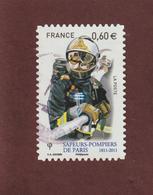 601 De 2011  - Adhésif - Oblitération Cachet Rond - POMPIER - France