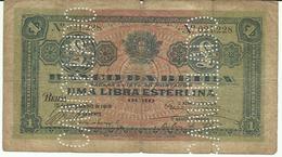 Nota 1 Libra Esterlina 15-9-1919 Moçambique - Mozambique