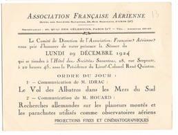 """AVIATION: Asociation Française Aérienne-dec 1924 . Thème  """"le Vol Des Albatros Dans Les Mers Du Sud..."""" - Vieux Papiers"""