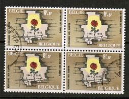 BELGIUM  Scott # B 775 VF USED BLOCK Of 4 (Stamp Scan # 452) - Used Stamps