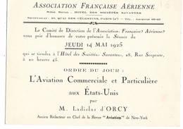 """AVIATION: Asociation Française Aérienne- Mai 1925 . Thème  """"l'aviation Commerciale Aux Etas Unis.."""" - Vieux Papiers"""