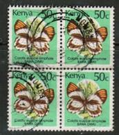 KENYA  Scott # 429 VF USED BLOCK Of 4 (Stamp Scan # 452) - Kenya (1963-...)
