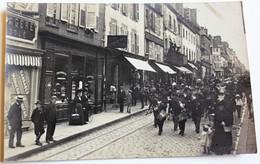 Rare Carte Photo 50 Avranches Fanfare Personnages Pharmacie Héon Pinel 5 Rue De La Constitution - Avranches
