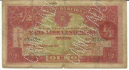 Nota 1/2 Libra Esterlina 15-9-1919 Moçambique - Mozambique