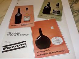 ANCIENNE PUBLICITE PORTO COGNAC ARMAGNAC SELECTION PERNOD 1968 - Alcools