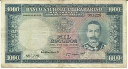 Nota 1000 Escudos 31-07-1953 Moçambique - Mozambique