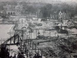 Cpa Carte Postale Europe Belgique Bruxelles-Exposition-L'Incendie Des 14-15 Aout 1910 Kermesse Aprés Ravages Du Feu - Catastrophes
