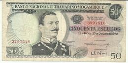 Nota 50 Escudos 27-10-1970 Moçambique - Mozambique