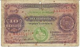 Nota 10 Centavos 05-11-1914 Moçambique (Lourenço Marques) - Mozambique