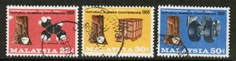 MALAYSIA Scott # 53-5 VF USED (Stamp Scan # 452) - Malaysia (1964-...)
