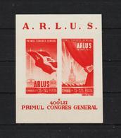 1945 -  1 Congres General A.R.L.U.S. (URSS) Mi Block 28 MNH - 1918-1948 Ferdinand, Carol II. & Mihai I.
