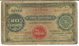 Nota 20 Centavos 05-11-1914 Angola (Loanda) - Angola