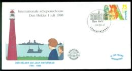 Nederland 1988 Speciale Envelop Den Helder Internationale Schepenschouw 200 Jaar Havenstad  Met NVPH 1367 - Period 1980-... (Beatrix)