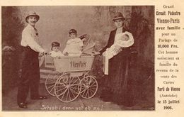 - Circuit Pédestre Vienne-Paris En Famille En 1906  (gros Plan)  -17680- - Autres