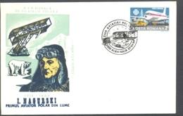 75933- JAN NAGORSKI, FIRST POLAR FLIGHT, PLANE, POLAR PHILATELY, SPECIAL COVER, 1984, ROMANIA - Polar Flights