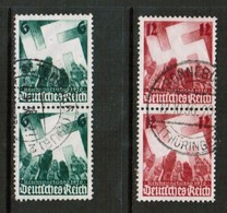 GERMANY  Scott # 479-80 VF USED PAIRS (Stamp Scan # 452) - Germany
