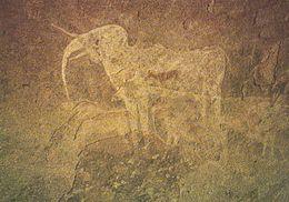 1 AK Namibia * Der Weiße Elefant In Der Phillips-Höhle (Phillips Cave) Felsmalerei Im Erongogebirge Ca. 5000 Jahre Alt - Namibia